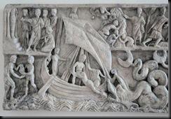 Jonah Sarcophagus,  photos were  made in Mainz, where a replica is displayed in the Römisch-Germanisches Zentralmuseum.
