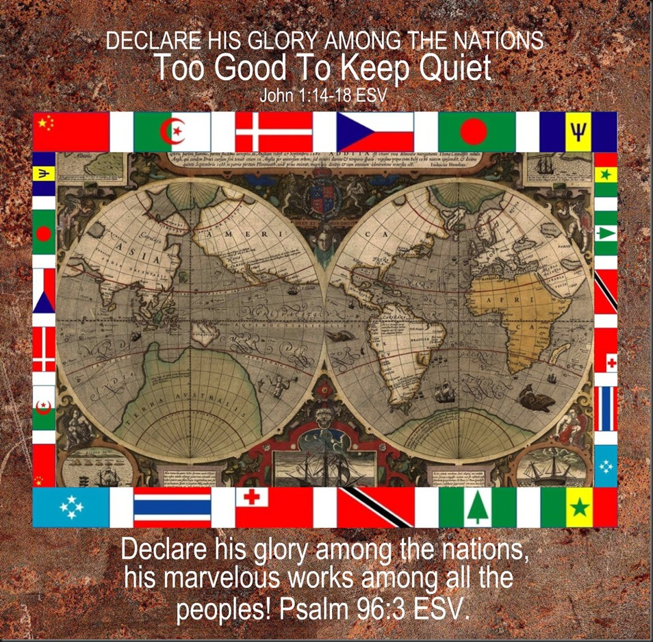 2013 Missions Conference! ~ Declare the Glory of God Among the Nations ~ Week Two. Image; Old Maps ~ World ~ Old Bible Texture
